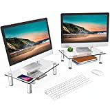 FITUEYES 2 Pack Computer Monitor Riser Stand with...
