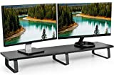 VIVO 39 inch Extra Long Monitor Stand, Wood & Steel...